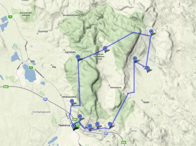 gerecse 50 térkép Tatabánya Pont   Sok túrázót várnak a XXXI. Gerecse 50 DECATHLON